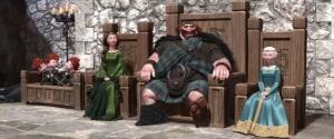 Keluarga Fergus menyambut para klan