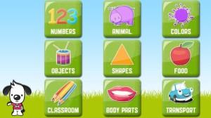 Gambar menu aplikasi Preschool All Words